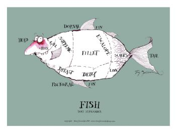 Fish Cuts - signed print